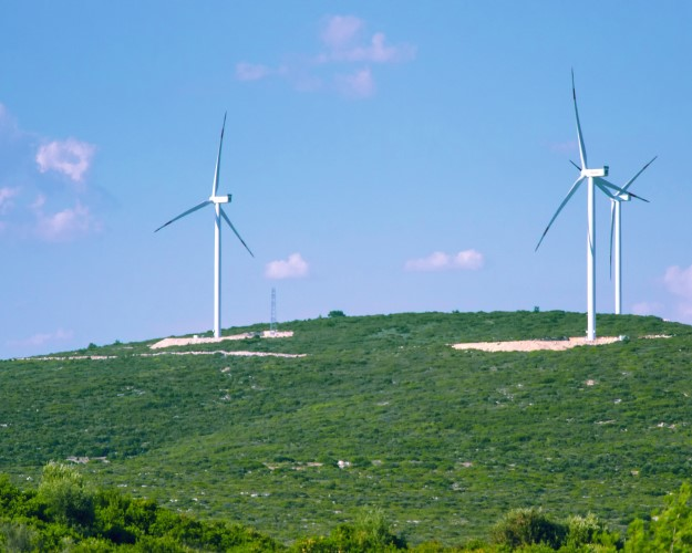 Spring Green Windmills Turkey